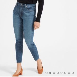 Everlane High Rise Skinny Jean Mid Blue